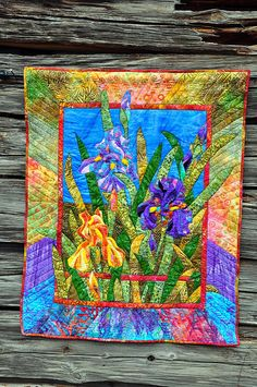 Iris quilt made by Jan by Jan and Billy Pics, via Flickr