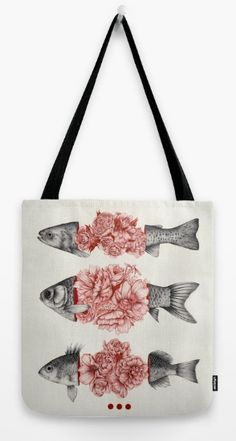 To Bloom Not Bleed tote bag by The White Deer