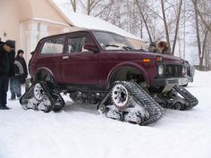 Lada niva 2121 snow snowvehicle