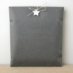 Le Petite Atelier Black Gift Envelope.  Would love to slip a pillow into an envelope like this