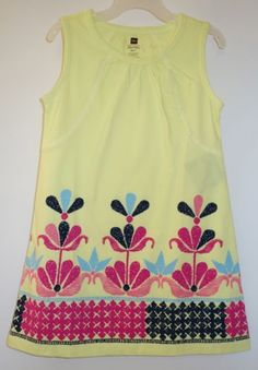 BNWT-Tea-Collection-Kiwi-Chenab-Chata-Dress-Girls-Size-8-Year