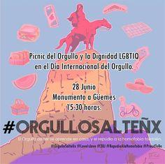 Miér 28/Jun - 15.30 hs #OrgulloSalteñx #Lovelslove #28J #RepudioAlaHomofobia #ProudTobe  #Salta #Agenda #Evento #Prensa #Noticia #Medios #Compartir #Picnic #LGBTIQ #Cultura #GobiernoDeSalta #SaltaTuCiudad #Argentina #PasaLaData #QueHacemosSalta #QHSalta #QHS Toda la info que necesitas la podes encontrar aquí  http://quehacemossalta.com/