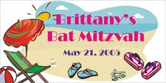 Pool / Beach Party Custom Banner by www.bannergrams.com Luau Party, Beach Party, Welcome Home Banners, Graduation Banner, Custom Banners, Baby Shower, Birthday, Babyshower, Aloha Party