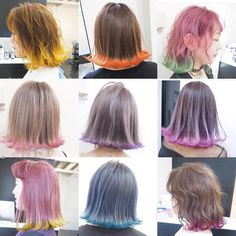 Rimming is the new ombré but with a pop – Rod Anker Dip Dye Hair, Dye My Hair, Green Hair, Pink Hair, Mode Kpop, Coloured Hair, Aesthetic Hair, Grunge Hair, Ombre Hair