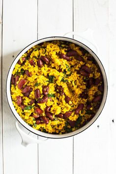 One Pot Turmeric Rice, Beans & Greens