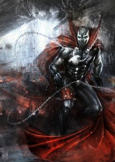 '' Spawn '' Digital Painting Photoshop + wacom tablet Personal Hope you like it! Spawn Characters, Comic Book Characters, Comic Book Heroes, Comic Books Art, Spawn Comics, Dc Comics, Batman Drawing, Deadpool Funny, Carapace