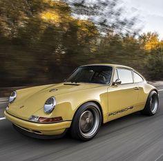 Car Porn: A Mellow Yellow Porsche 911 Restored By Singer Porsche 911, Porsche Sports Car, Singer Porsche, Yellow Car, Mellow Yellow, Vincent Van Gogh, Classic Singers, Singer Vehicle Design, Sports