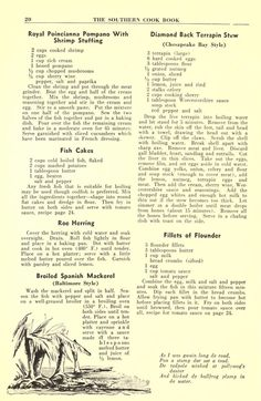 The Southern cook book of fine old recipes Retro Recipes, Old Recipes, Vintage Recipes, Cookbook Recipes, Fish Recipes, Mexican Food Recipes, Cooking Recipes, Seafood Recipes, Healthy Recipes