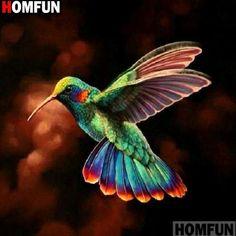 "Full Square / Round Dirll DIY diamond painting Kits ""Colorful hummingbird"" embroidery cross stitch Mosaic Arts Home Decor Hummingbird Pictures, Hummingbird Art, Colorful Hummingbird Tattoo, Exotic Birds, Colorful Birds, Pretty Birds, Beautiful Birds, Funny Bird, Motifs Animal"
