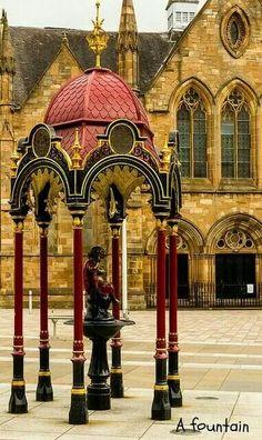 Aitken Memorial Fountain - Govan Cross , Glasgow