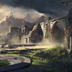Acrospar Ruins this one was for some imagine fx issue back when, inspired by some ruins in India #design #landscape #concept #architecture #digitalart #fantasy #finnianmacmanus #light #paintings #painting #painted #conceptartist #conceptartist #ruins #india #cinematic #film #adobe #photoshop