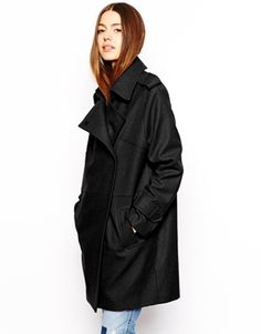 Enlarge ASOS Cocoon Double Breasted Coat
