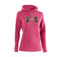 Under Armour Misses' Tackle Twill Hoody - Pink/Camo - Mills Fleet Farm