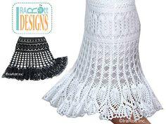 Bruges Crochet Lace Skirt Crochet PDF Pattern pattern by Ira Rott