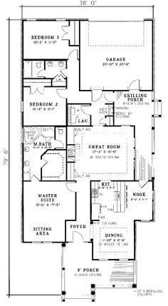3 Bedroom House Floor Plans 40x40 20X24 House Floor Plans ~ Home ...