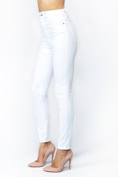 Shop jeans for women in any style at Nasty Gal, from skinny to straight, high-waisted & more. Distressed jeans are a must these days! High Rise Jeans, White Pants, I Got This, Essentials, Closet, Style, Fashion, White Romper Pants, Swag