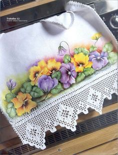 pretty--pansies and lace