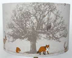 Fryetts Woodland TREE, STAG and Fox Lampshade , Table Lamp , Pendant Shade | eBay