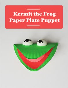 All it takes is a paper plate and some good, old DIY fun and your family can play with Kermit the Frog for hours! It's a great craft for The Muppets  premiere!