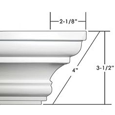 Easy Crown Molding Peel and Stick Crown Molding Easy Crown Molding, Cornice Moulding, Wall Molding, Moldings And Trim, Baseboard Molding, Wooden Cornice, Moulding Profiles, Classic House Design, Plastic Moulding