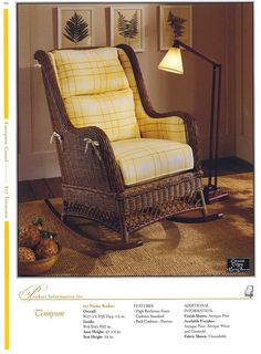 12 Best Tennyson Wicker Rocker Chair images | Wicker rocker