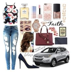 """"""""""" by giuliacarolline ❤ liked on Polyvore featuring Chanel, Jimmy Choo, MICHAEL Michael Kors, Michael Kors, Casetify and NARS Cosmetics"""