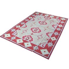 Amazon.com: Indian Handcrafted Rug Oriental Cotton Dhurrie 7.5 x 5.6 Feet: Furniture & Decor