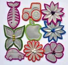 Kuvahaun tulos haulle heijastimen askartelu Hobbies And Crafts, Diy And Crafts, Arts And Crafts, Easy Sewing Projects, Sewing Hacks, Rock Crafts, Creative Crafts, Little Gifts, Handicraft