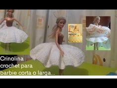 vestido con vuelo de piñas para muñeca barbie (blusa) - YouTube