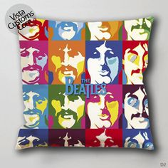 the beatles art Pillow Case, Chusion Cover ( 1 or 2 Side Print With Size 16, 18, 20, 26, 30, 36 inch )
