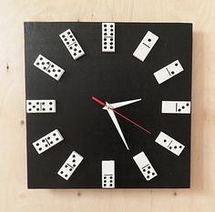 Domino clock - we have dominos and the board - need clock works