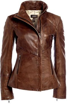 Danier Brown Leather Hooded Jacket | Fashionista Tribe | Women&39s