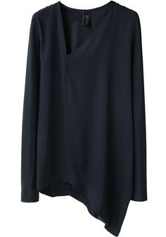 ZERO + MARIA CORNEJO. assymetrical hemline and neckline, set of by the clean lines and blank color.  Sweet top.  Imagine with virtually any skirt I own.........