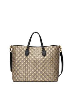 46c30a66e Gucci Bestiary GG Supreme Medium Top-Handle Tote Bag Gucci Accessories,  Gucci Handbags,