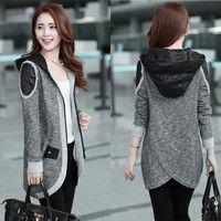 Wish | New Ladies Women Long Sleeve Knit Zipper Front Cardigan Top Jacket Jumper Coat  SV007618
