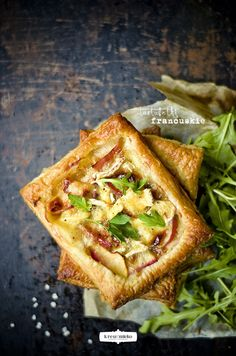 Apple & Camembert Cheese Puff Pastry Tartlets