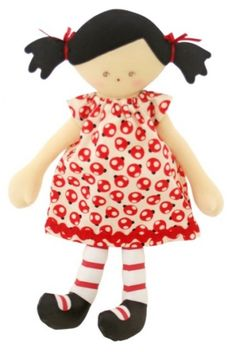 #games #australia #toys #children -   The Sadie Doll in Ladybug Dress from Alimrose Designs has cute black hair buns with red ribbons plus cute red on white stripe socks. Great as a nursery decorative and playtime friend!Approximately 29 cm tall.