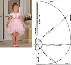 Little girl dresses and an apr Cheap Flower Girl Dresses, Little Girl Dresses, Girls Dresses, Baby Dress Patterns, Kids Patterns, Fashion Sewing, Kids Fashion, Dress Anak, Baby Sewing