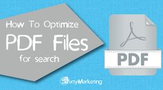 PDF files are ubiquitous. We use them to fill out various forms and applications; students and tutors use them to easily exchange reference materials; book lovers download and read millions of PDF ebooks every day. Apart from these, there are people who use PDFs as part of their Internet marketing strategy. Though this file format is far from being the best option for SEO, many businesses still produce and publish tons of PDF files, most of which aren't optimized for the search engines.