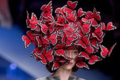 A Model walks down the catwalk during the Alexander McQueen ready to wear Spring Summer 2008 show at Paris Fashion Week 2007 on October 5, 2007 in Paris, France