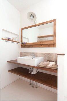 洗面所 Laundry Room Bathroom, Bathroom Renos, Bathroom Inspo, Washroom, Bathroom Storage, Natural Interior, House Made, House Rooms, Home Renovation