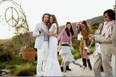 Hippie Wedding by roseann