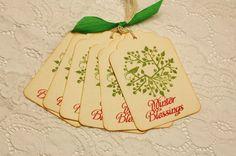 Handmade Vintage Style Gift Tag  Wreath with Bird  by wkburden, $3.99
