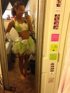 My DIY Princess Tiana raver costume! Still need to make my tiara & kandi frog ❤️
