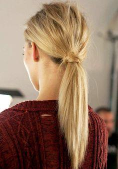 Le noeud de cheveux, plus esthétique que n'importe quel élastique !