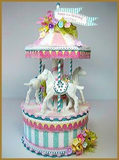 """Carousel Pony"" Cake Topper Image"