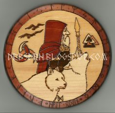 Odin round plaque by DebsDen