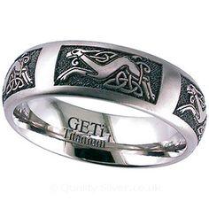 Geti Celtic Dog Titanium Ring - Titanium Ring