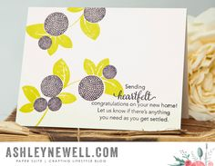 Heartfelt Congratulations Card by Ashley Cannon Newell for Papertrey Ink (August 2015)