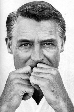 Cary Grant. He's thinking I look a bit thin.... He wants to bring me beignets and a breve.